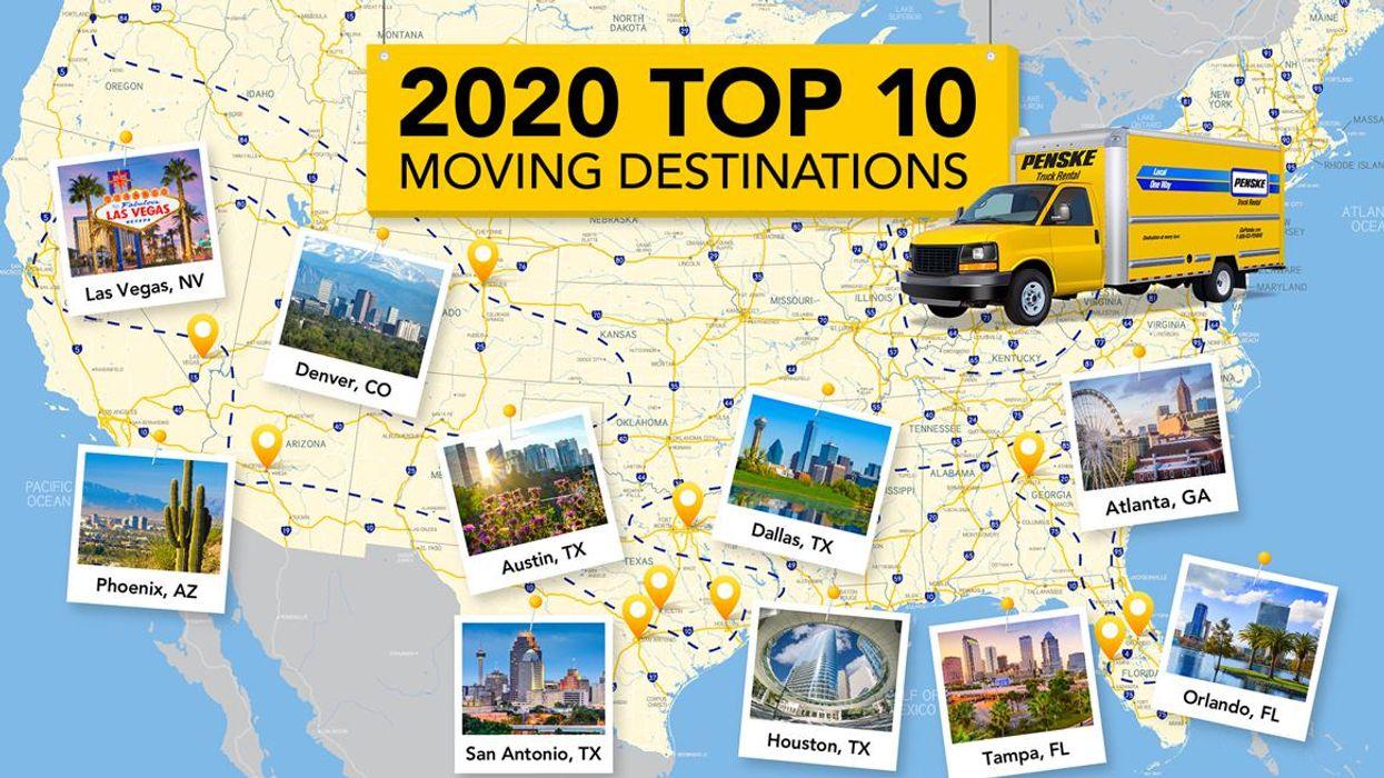 2020 Top 10 Moving Destinations