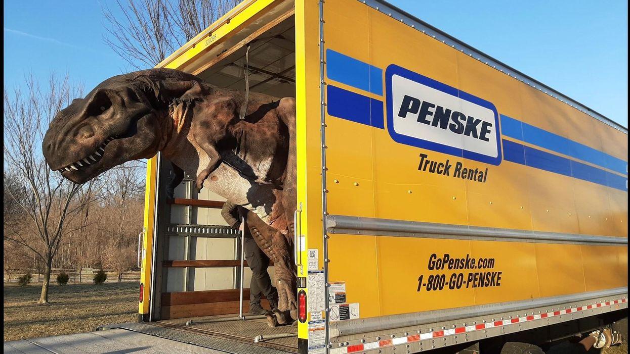 Dinosaur in penske truck