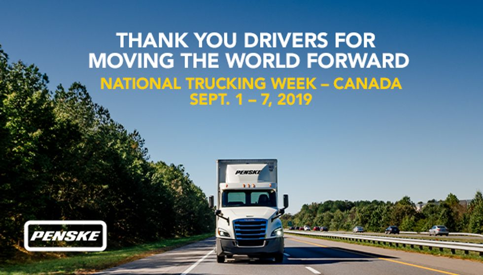 Penske Logistics Thanks its Drivers During Canada's National Trucking Week