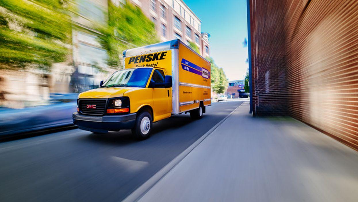 Penske truck driving