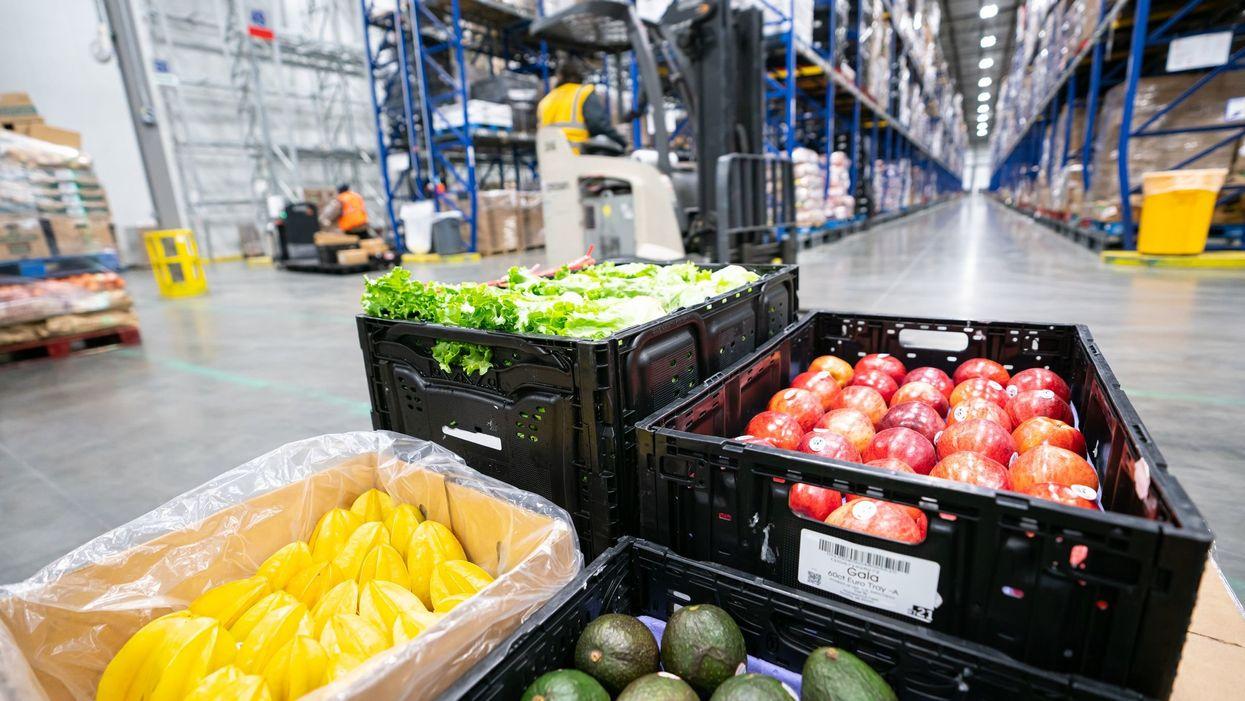 produce in logistics warehouse